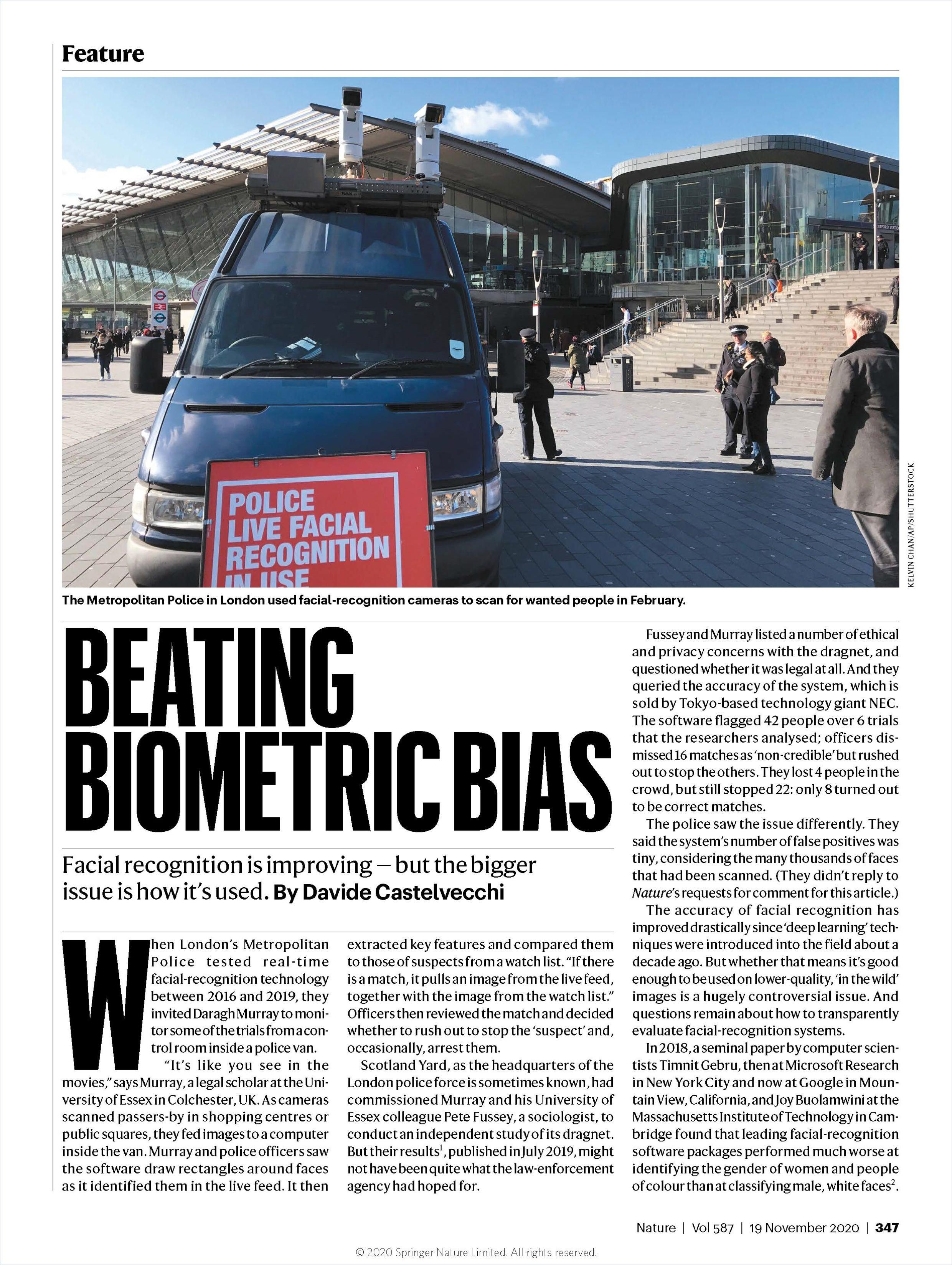 Image of: Beating Biometric Bias