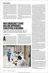 Why Emergency COVID Vaccine Approvals Could Pose a Dilemma summary