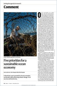 Five Priorities for a Sustainable Ocean Economy summary