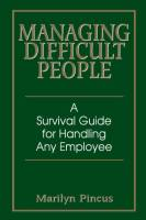 Managing Difficult People book summary
