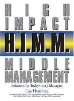 High Impact Middle Management book summary