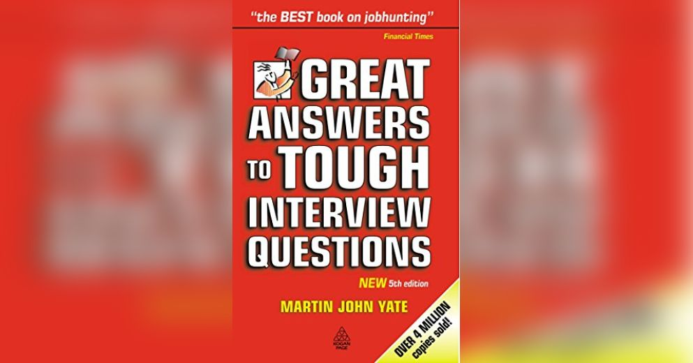 how to answer tough interview questions book