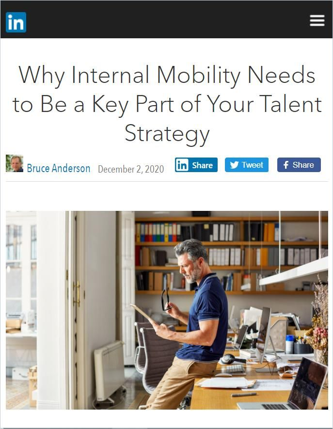Image of: Why Internal Mobility Needs to Be Part of Your Talent Strategy