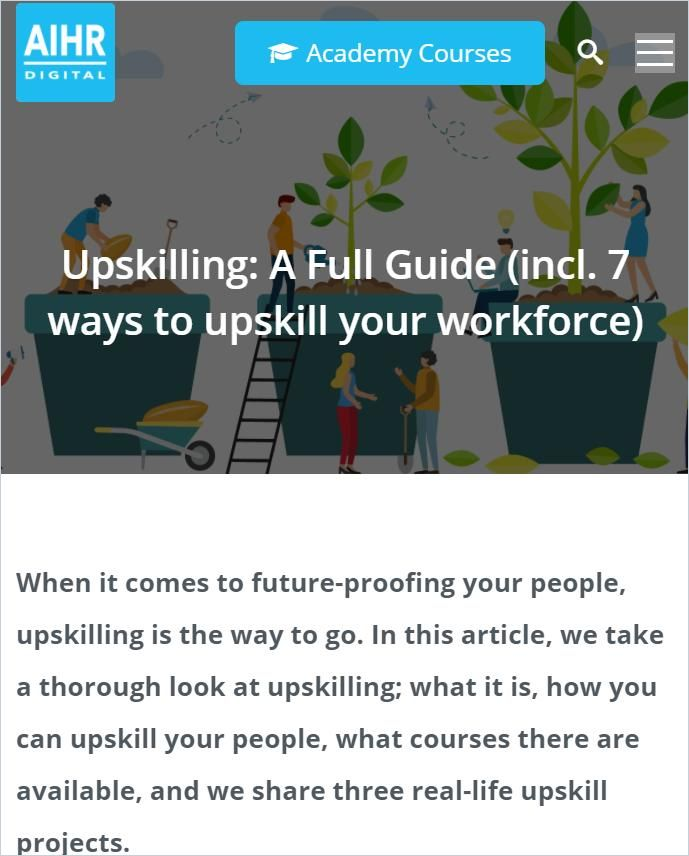 Image of: Upskilling