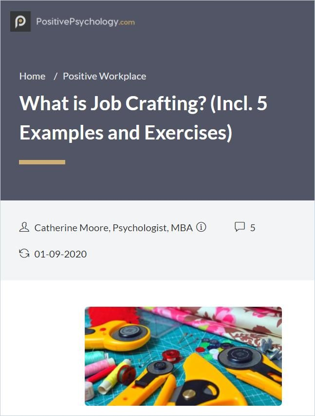 Image of: What Is Job Crafting?