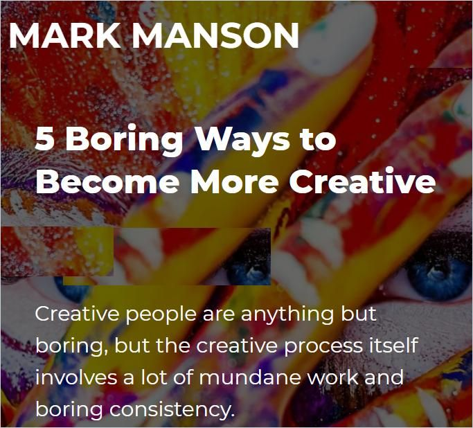 Image of: 5 Boring Ways to Become More Creative