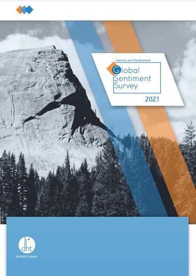 Image of: Learning and Development Global Sentiment Survey 2021