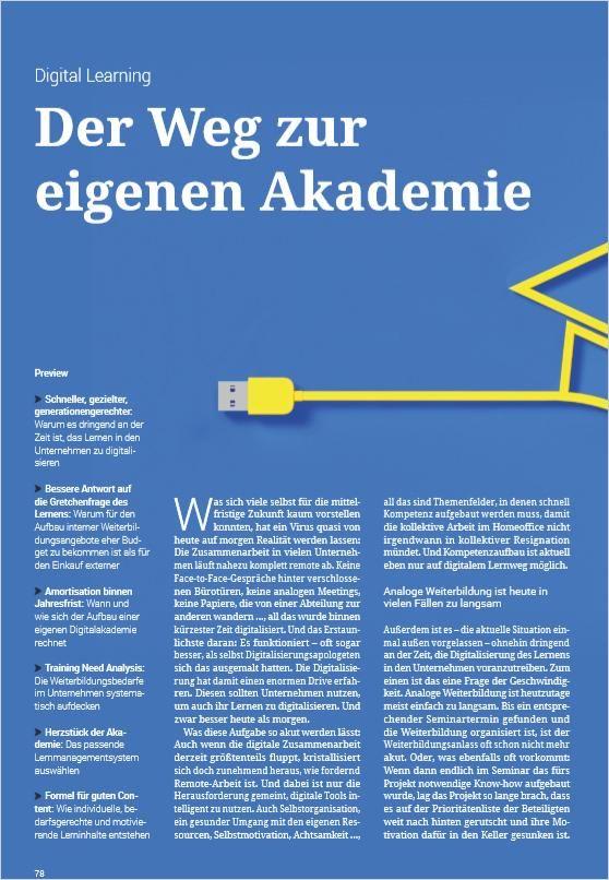 Image of: Der Weg zur eigenen Akademie
