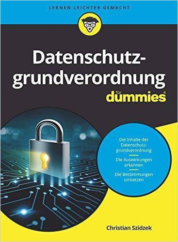 Image of: Datenschutzgrundverordnung für Dummies