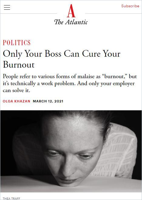 Image of: Only Your Boss Can Cure Your Burnout