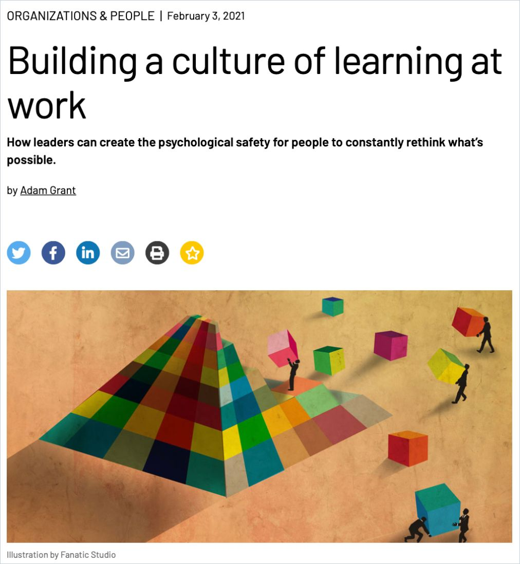 Image of: Building a Culture of Learning at Work