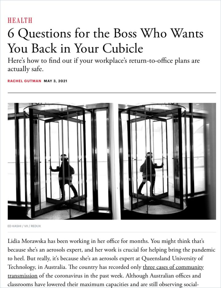Image of: 6 Questions for the Boss Who Wants You Back in Your Cubicle
