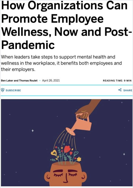 Image of: How Organizations Can Promote Employee Wellness, Now and Post-Pandemic