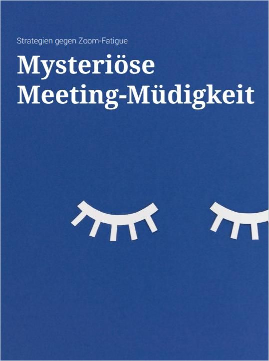 Image of: Mysteriöse Meeting-Müdigkeit