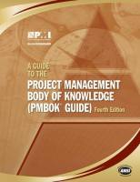 A Guide to the Project Management Body of Knowledge book summary