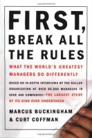 First, Break All the Rules book summary