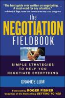 The Negotiation Fieldbook book summary