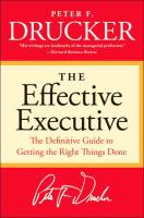 The Effective Executive book summary