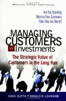 Managing Customers as Investments book summary