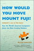 How Would You Move Mount Fuji? book summary
