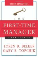 The First-Time Manager book summary