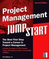 Project Management JumpStart book summary