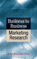 Business to Business Marketing Research book summary