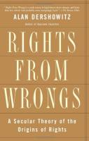 Rights from Wrongs book summary