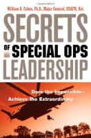 Secrets of Special Ops Leadership book summary