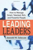 Leading Leaders book summary