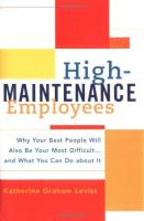 High-Maintenance Employees book summary