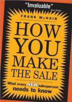 How You Make the Sale book summary