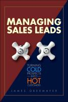 Managing Sales Leads book summary