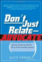 Don't Just Relate - Advocate book summary
