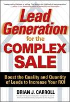 Lead Generation for the Complex Sale book summary