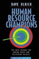 Human Resource Champions book summary