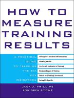 How to Measure Training Results book summary