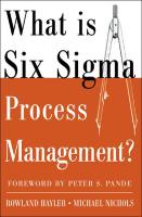 What is Six Sigma Process Management? book summary