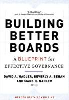 Building Better Boards book summary