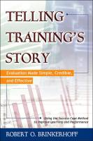 Telling Training's Story book summary