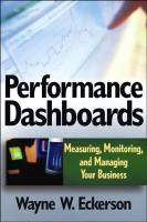 Performance Dashboards book summary