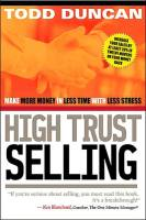 High Trust Selling book summary