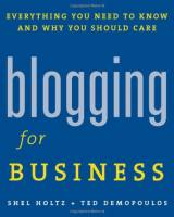 Blogging for Business book summary