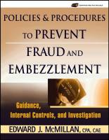 Policies & Procedures to Prevent Fraud and Embezzlement book summary