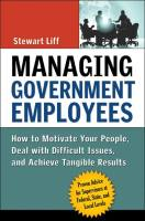 Managing Government Employees book summary