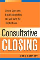 Consultative Closing book summary