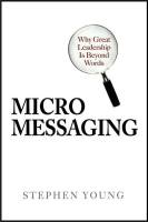 Micromessaging book summary