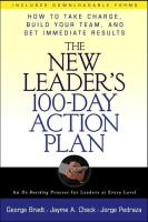 The New Leader's 100-Day Action Plan book summary