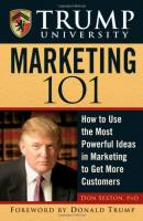 Trump University Marketing 101 book summary