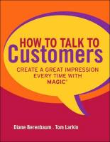 How to Talk to Customers book summary
